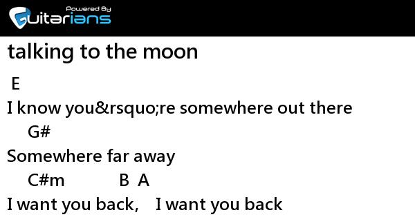 Bruno Mars - talking to the moon 結他譜 / Chord譜 | Guitarians.com
