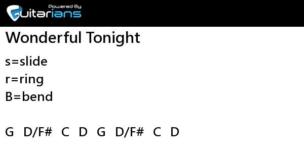 Eric Clapton - Wonderful Tonight 結他譜 / Chord譜   Guitarians.com