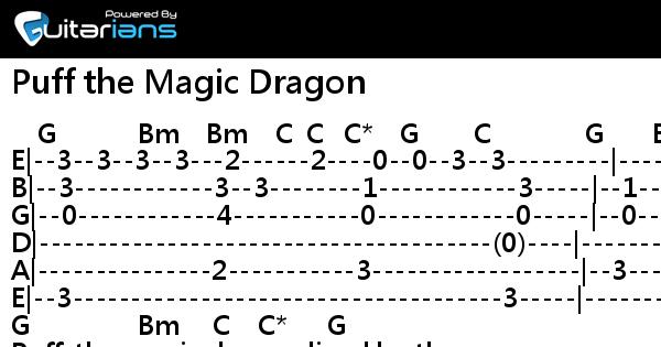 Peter Paul and Mary - Puff the Magic Dragon 結他譜 / Chord譜 ...