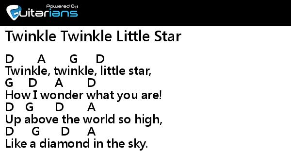 Children Song Twinkle Twinkle Little Star Chord