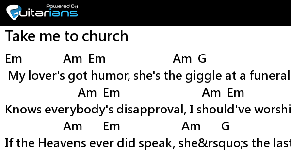 Hozier - Take me to church 結他譜 / Chord譜 | Guitarians.com