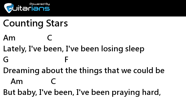 One Republic Counting Stars Chord Guitarians