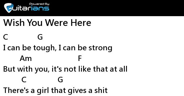 Avril Lavigne - Wish You Were Here 結他譜 / Chord譜
