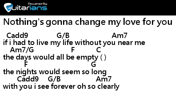 Nothings Gonna Change My Love For You Chords Westlife Oukasfo